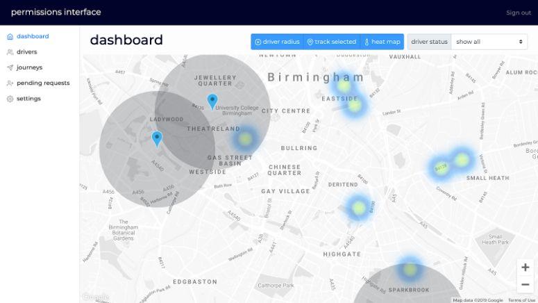 bespoke ride-hailing web app