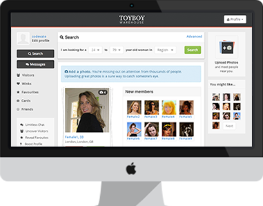 Toyboy Warehouse social networking platform